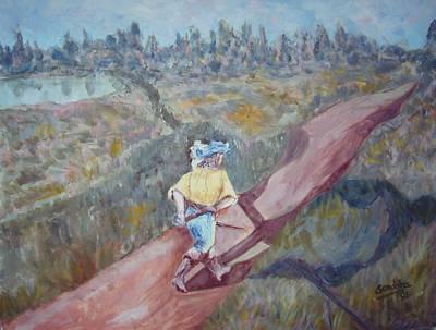 A Man Walking Original by Joseph Sandora Jr