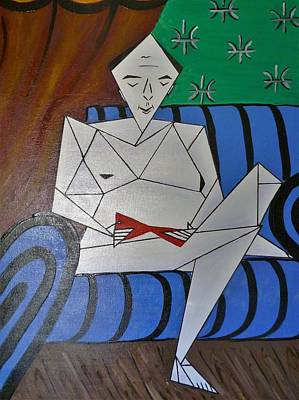 Painting - A Man With A Red Stiletto  by Tamara Savchenko