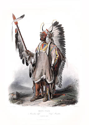 Painting - A Mandan Chief Wall Art Prints by Wall Art Prints