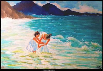 Painting - A Man's Gotta Dream by Trinath Sen