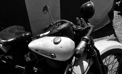 A Mans Harley Art Print by David Lee Thompson