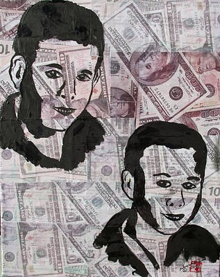 Decoupage Painting - A Man's True Wealth Are His Sons by Arlene  Wright-Correll