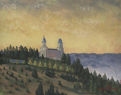 Temple Painting - A Manti  Morning by Jeff Brimley