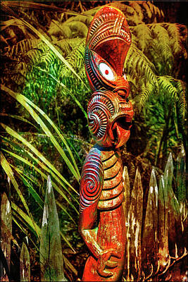 Photograph - A Maori God In New Zealand by Kathryn McBride