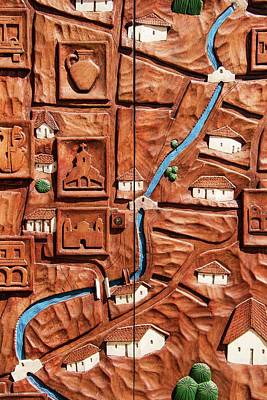Photograph - A Map Of Ojojona by Hany J