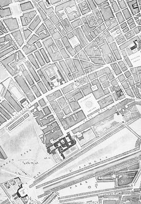 London Central Drawing - A Map Of St James  London by John Rocque