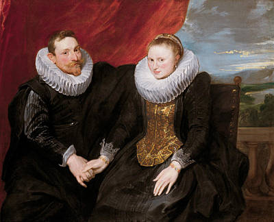 A Married Couple Art Print by Anthony van Dyck