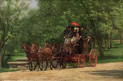 Park Scene Painting - A May Morning In The Park by Thomas Eakins
