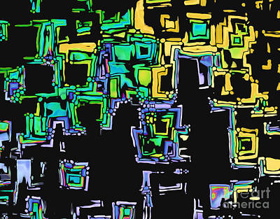 Multicolored Digital Art - A Maze Thing - 01ac05 by Variance Collections