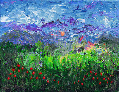 Painting - A Meadow For Van Gogh by Donna Blackhall