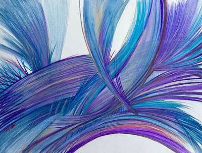 Abstract Movement Drawing - 'a Meal Into A Feast' by Kelly K H B
