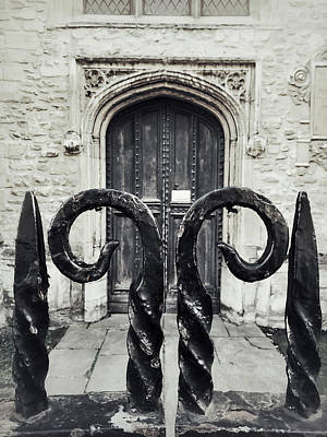 Christian Sacred Photograph - A Medieval Door by Tom Gowanlock
