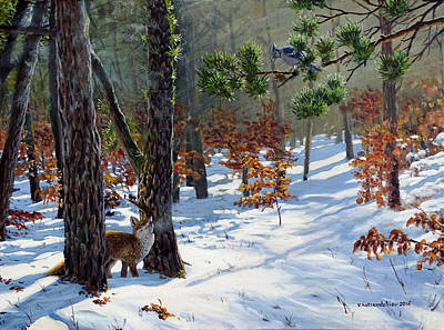 Painting - A Meeting In The Woods by Valentin Katrandzhiev