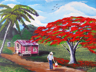 Painting - A Memorable Walk by Luis F Rodriguez