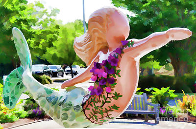 Painting - A Mermaid In A Norfolk Botanical Gardens 5 by Lanjee Chee