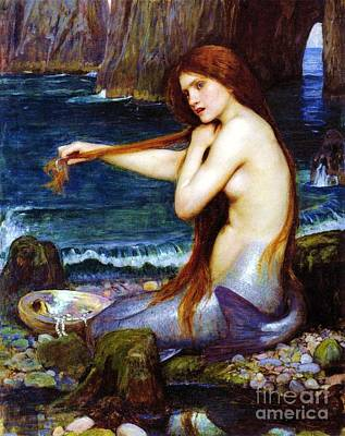 Painting - A Mermaid by Pg Reproductions