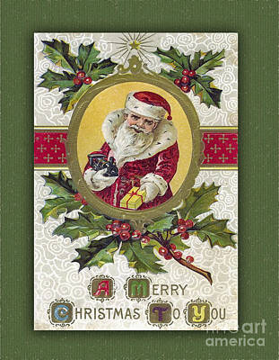 Photograph - A Merry Christmas To You Classic Card by Melissa Messick
