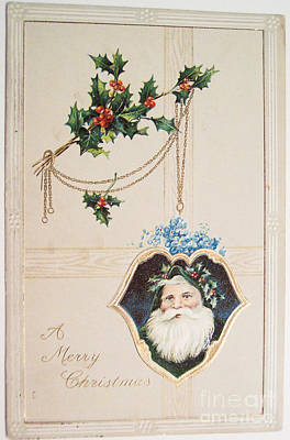 Painting - A Merry Christmas Vintage Greetings From Santa Claus by R Muirhead Art