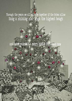 A Merry Little Christmas Quote Art Print by JAMART Photography