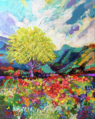 Wall Art - Painting - A Mesquite In The Wild Hill Country by Charles Wallis