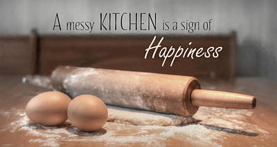 Photograph - A Messy Kitchen by Lori Deiter