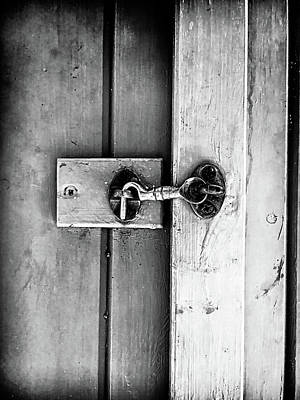 Old Latch Photograph - A Metal Latch by Tom Gowanlock