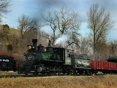 Colorado Railroad Museum Photograph - A Mid Day Run by Ken Smith