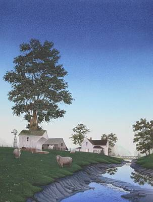 Painting - A Mid-summer's Eve by C Robert Follett