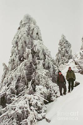 Photograph - A Mid-winter Hike On Monadock  by Larry Davis Custom Photography