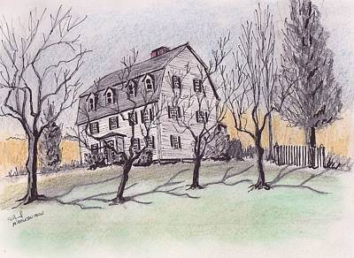 A Middleton Ma Gambrel Art Print by Paul Meinerth