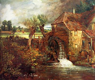 Painting - A Mill At Gillingham In Dorset by Constable John