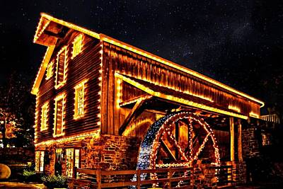 A Mill In Lights Art Print