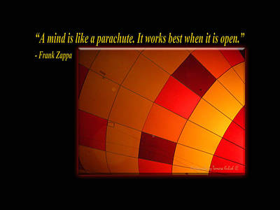 Photograph - A Mind Is Like A Parachute by Tamara Kulish