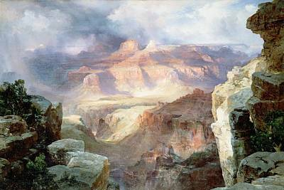 Canyon Painting - A Miracle Of Nature by Thomas Moran