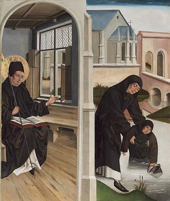 A Miracle Of Saint Benedict Art Print