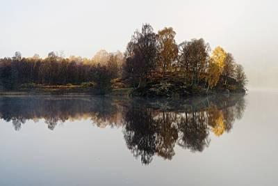 A Misty Autumn Art Print