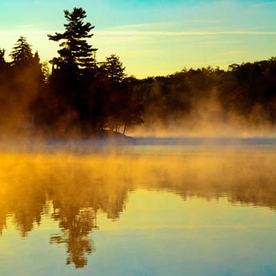 Photograph - A Misty Sunrise On The Pond by David Patterson
