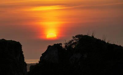 Photograph - A Misty Sunset by Loree Johnson