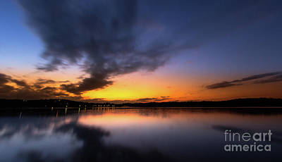 A Misty Sunset On Lake Lanier Original