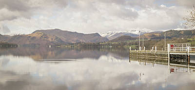 Art Print featuring the photograph A Misty Ullswater by RKAB Works