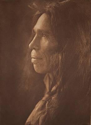 A Mixed-blood Coast Pomo , Native American By Edward Sheriff Curtis, 1868 - 1952 Art Print