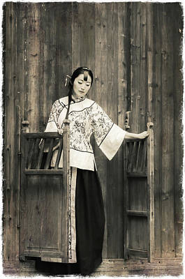 Photograph -  A Model In A Period Costume. by Usha Peddamatham