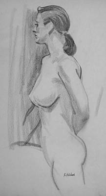 Drawing - A Modern Dancer Who Modeled For Awhile by Robert Holden