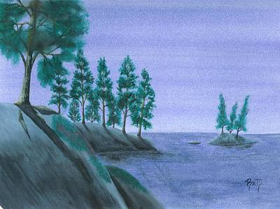 Painting - A Moment In Blue by Robert Meszaros