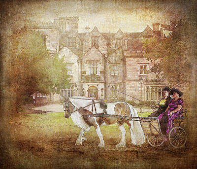 Horse And Cart Digital Art - A Moment In Time by Kimberly Stevens