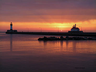 Duluth Canal Park Canal Park Lighthouse Lighthouse Lake Superior Minnesota Photograph - A Moment Like This by Alison Gimpel
