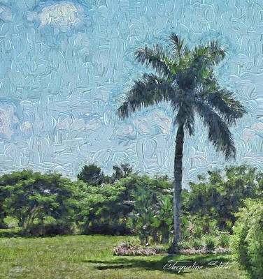 Digital Art - A Monet Palm by Jacqueline Sleter