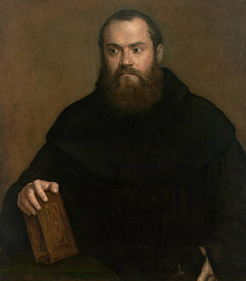 Painting - A Monk With A Book by Titian
