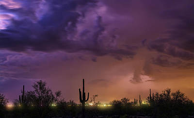 Photograph - A Monsoon Desert Night by Saija Lehtonen