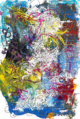 Neo-expressionism Mixed Media - A Monster In The Candy by Jade Knights